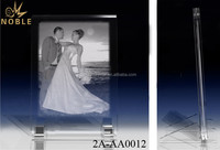 Customized Metal Support Crystal Plaque Laser engraving Crystal Photo Frame