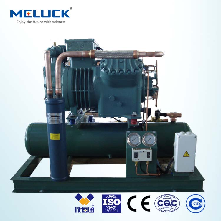 Refrigerant R22 Meluck BBS series water-cooled Condensing Unit for cold room with high performance