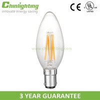 C35 led wooden filament candle bridge light c35 e14 tail 4w led filament bulb c35 led wooden filament candle bridge light