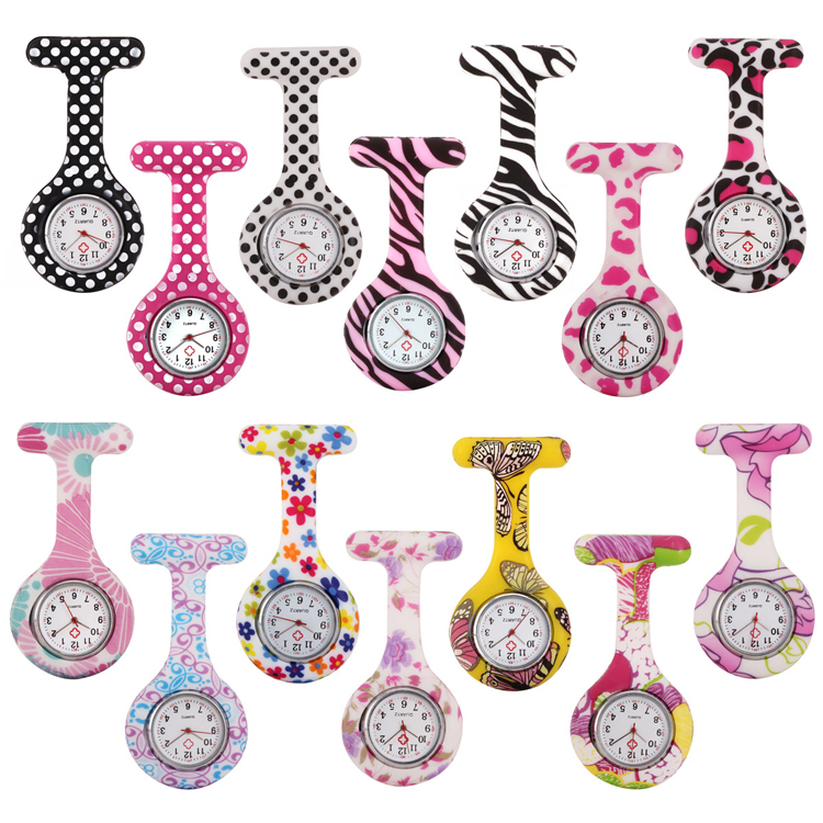 Silicone nurse watch screen print on face and band popular on International Nurses Day