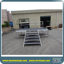 easy to set up aluminum stage event service equipment for trade show