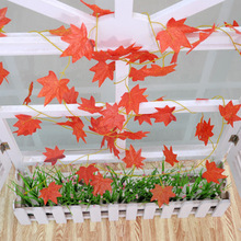 Decorative Artificial Maple Leaf Garlands 30 Maple Leaves