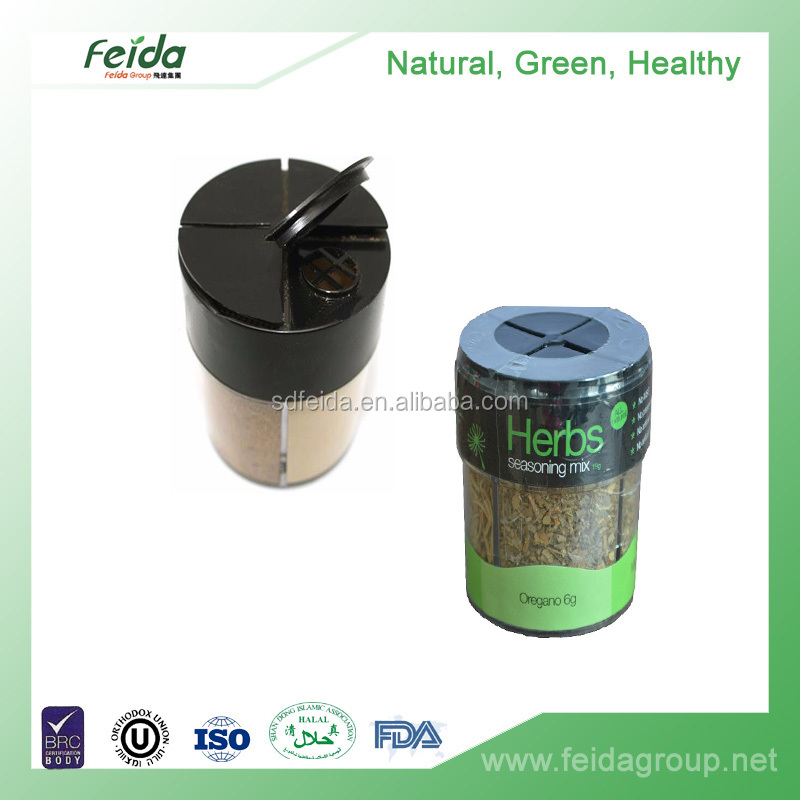 customized mixed seasoning powder in multi chamber plastic jar