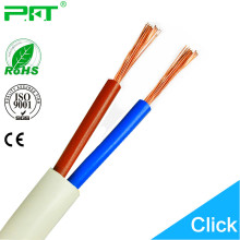 PFT factory cheapest price rvv wire white or black color 2 cord 2.5mm2 electric cable