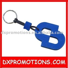single color layer eva floating key chain in die-cut shaped