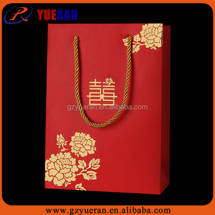 Alibaba china supplier packaging companies packaging printing bags paper, paper bags wedding gift bag