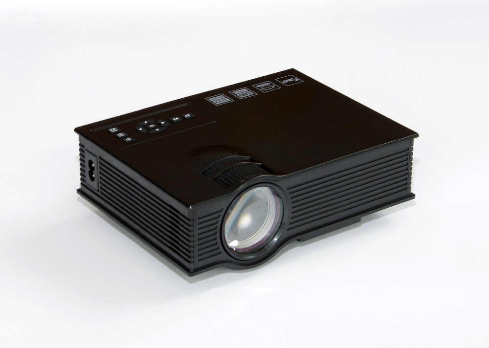 2015 Newest 800*480 1080p support home projector, hd projector,UC40+ portable video projector