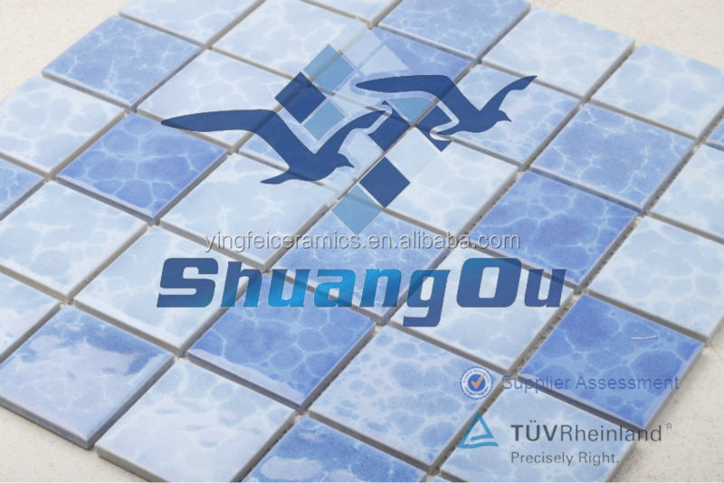 Foshan ceramic swimming pool mosaic 48x48mm glazed ceramic tile