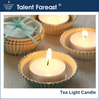50pcs per set white color in aluminum cup, no scented tealight candle