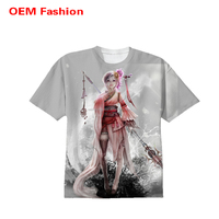 Short sleeve women tie dye loose fit korea t shirt