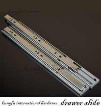 35mm Full extension soft closing ball bearing drawer slide,telescopic channel,drawer slide soft close