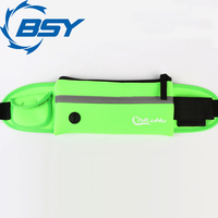 Factory Direct Sales Green Ultra Light Neoprene Cycling Outdoor Running Belt Waist Pack for Men and Women