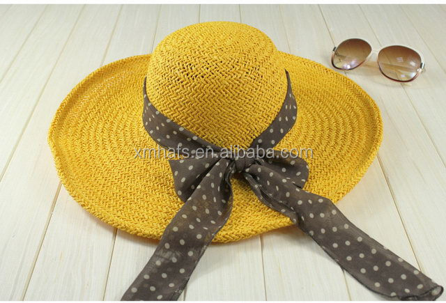 Competitive price Supreme Quality ribbon beach hats