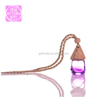 Empty diamond shaped 5ml glass bottle car freshener diffuser pendant