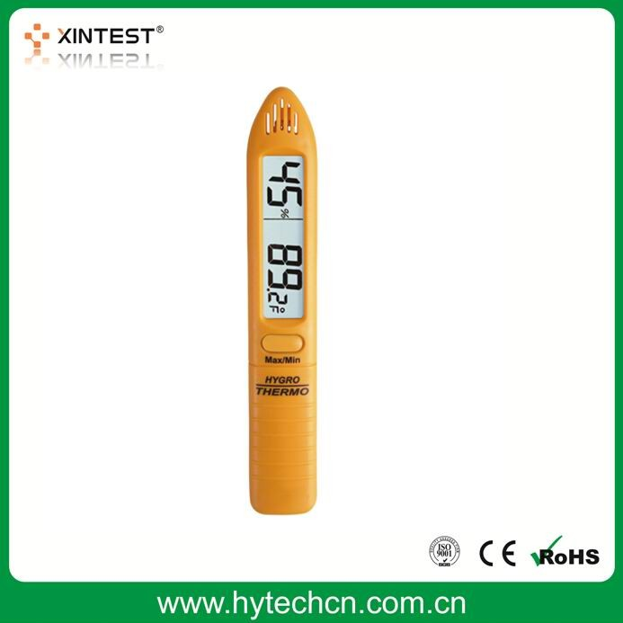 LCD Digital Portable Thermometer Hygrometer Pen-Shaped Hygro Psychrometer Instant Accurate Humidity and Temperature Meters
