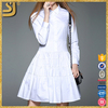OEM clothing factory guangzhou wholesale white long sleeve women dress