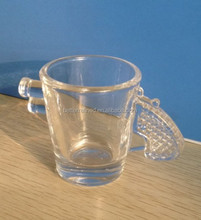 hand pressed gun shape crystal shot glass cup
