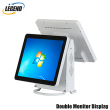 Free-bezel MSR Capacitive Touch White dual screen pos system