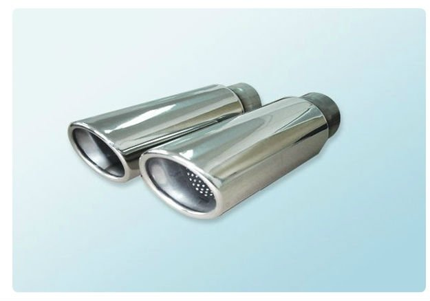 Automotive tail tip and muffler