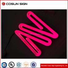 facelit light color custom led logo Sign and custom Neon letter