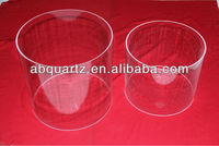 clear fused silica large diameter thick wall quartz tube tubing