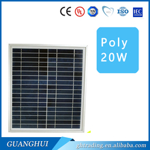 poly 20w 12v flexible mini aluminum extrusion solar panel for home electricity