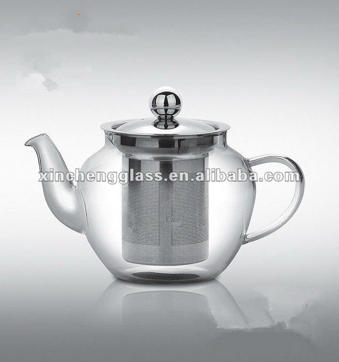 hot sale home Unique design fashionable Heat resistant Borosilicate Glass coffee set with stainless steel strainer