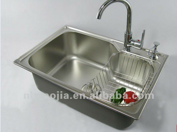 High quality satinless steel kitchen sink with drain tank for High quality kitchen sinks