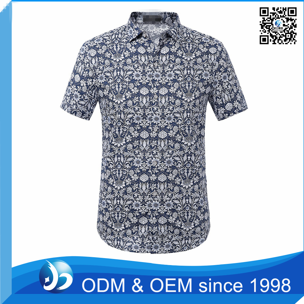 Custom Polyester African Casual Print Shirt for Men
