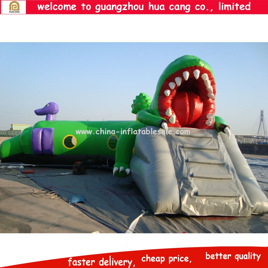 China high quality competitive obstacle course/ dinosaur inflatable obstacle course for sale