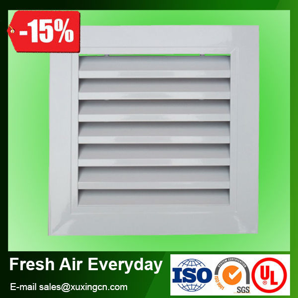 High quality exhaust return fresh air aluminum ventilation grille window
