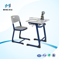 China mingxiu cheap attached school desks and chair / used school desks