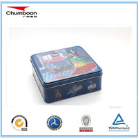 Hot sale cookies metal tin box christmas gift packaging box