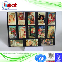 promotional souvenir 3D custom epoxy paper printing 4.5x8cm Christmas eve gift boxes fridge magnet