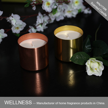 Home Wedding Mirror Copper Metal Scented Soy Candle