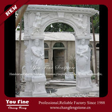 White Stone Statue Natural Carving Marble Door Frame For Sale