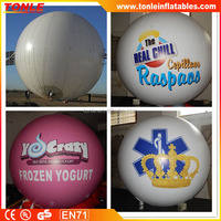 Giant cheap Inflatable Advertising Round Balloons/ Flying Balloons for sale