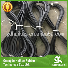 Black adjustable rubber v belt