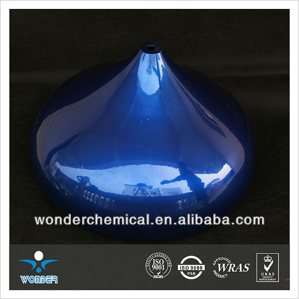 fluorescent nanotechnology mirror effect chrome spray candy blue powder coating
