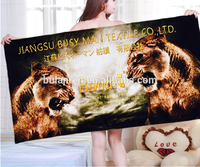Promotional Sexy Women Beach Towel with Animals for Adults Digital Printed Cotton Velour