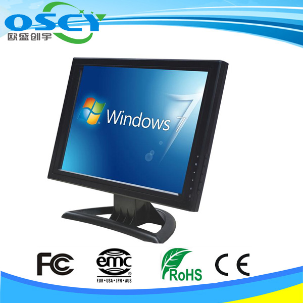"HQ 15"" inch Stand Touch Screen LCD Monitor w/ VGA TFT POS USB Interface"