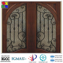 2015 China good factory direct supply wrought iron wholesale gates garden gate with glass for decoration