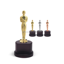 Fashion metal figurine man trophies awards customized business gift