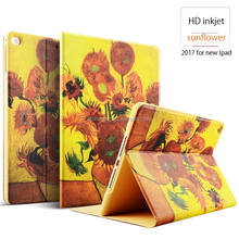 OEM & ODM Waterproof shockproof color printed pu leather tablet case for new iPad 2017 9.7 inch