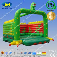 lovely green dinosaur used inflatable bouncers/commercial bounce houses/bouncy houses for sale contact with Skype:hnjoytoys006