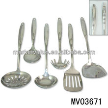 6pcs stainless steel utensils with hollow handle high quality