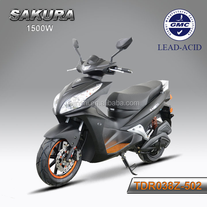large power 72v 1500w electric motorcycle with disc brakes
