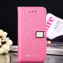 2014 new products honeycomb pattern PU leather case for iphone 5c 64gb