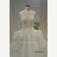 Guangzhou wedding dress supplier 2018 sweetheat new design ball gown