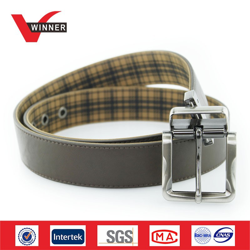 Reversible Buckles Fashion Mens PU Belts